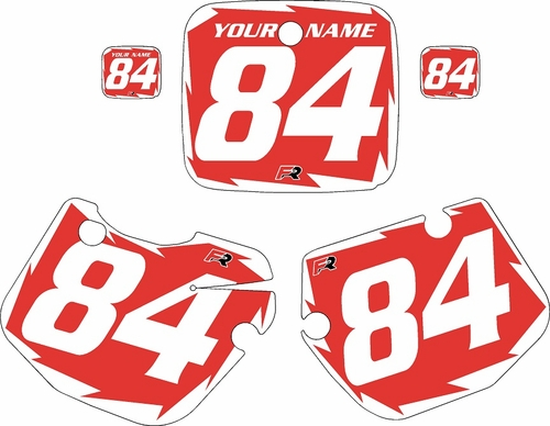 1984-1985 Yamaha YZ490 Custom Pre-Printed Red Background - White Shock Series by Factory Ride