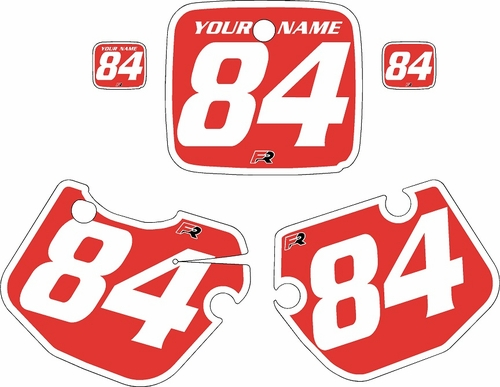 1984-1985 Yamaha YZ490 Custom Pre-Printed Red Background - White Bold Pinstripe by Factory Ride
