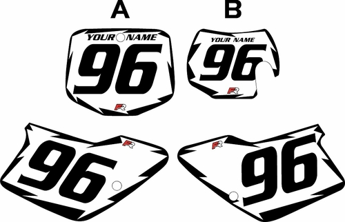 1996-2001 GAS GAS EC125 Custom Pre-Printed Background White - Black Shock Series by Factory Ride