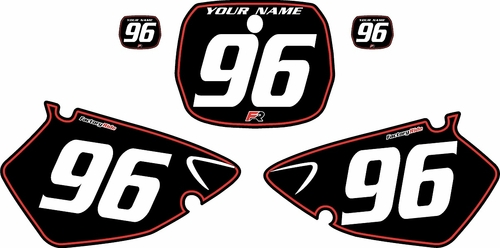 1996-1999 Yamaha YZ125 Custom Pre-Printed Background Black - Red Pinstripe by Factory Ride
