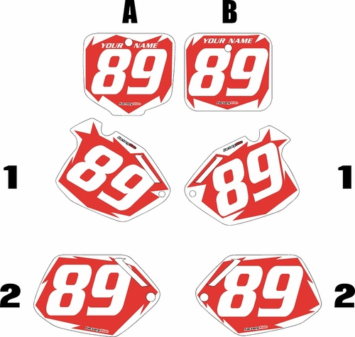 1991-2001 Honda CR500 Pre-Printed Backgrounds Red - White Shock Series by FactoryRide