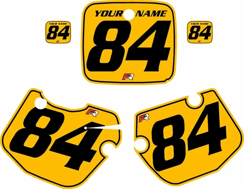 1984-1985 Yamaha YZ490 Custom Pre-Printed Yellow Background - Black Pinstripe by Factory Ride