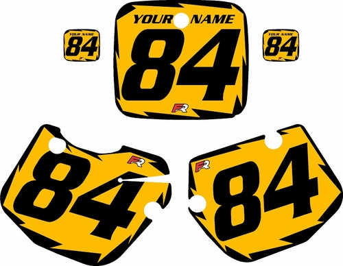 1984-1985 Yamaha YZ490 Custom Pre-Printed Yellow Background - Black Shock Series by Factory Ride