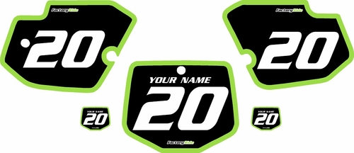 1996-2004 Kawasaki KX500 Pre-Printed Backgrounds Black - Green Bold Pinstripe by FactoryRide