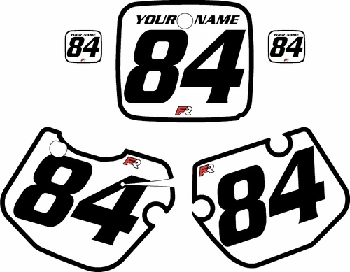 1984-1985 Yamaha YZ490 Custom Pre-Printed White Background - Black Bold Pinstripe by Factory Ride