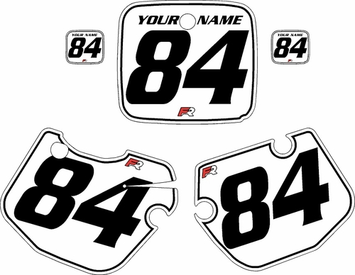 1984-1985 Yamaha YZ490 Custom Pre-Printed White Background - Black Pinstripe by Factory Ride