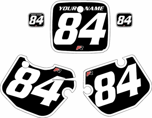 1984-1985 Yamaha YZ490 Custom Pre-Printed Black Background - White Bold Pinstripe by Factory Ride