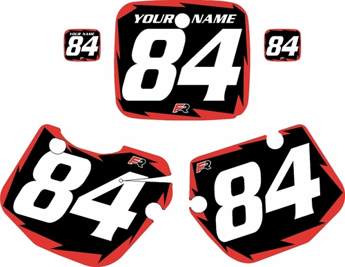 1984-1985 Yamaha YZ490 Custom Pre-Printed Black Background - Red Shock Series by Factory Ride