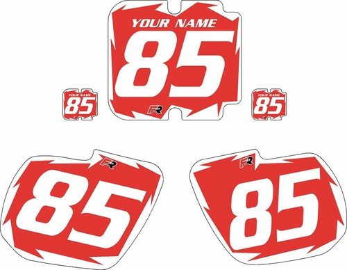 1985-1986 Kawasaki KX500 Custom Pre-Printed Background Red - White Shock Series by Factory Ride
