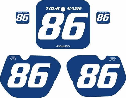 1985-1986 Honda CR500 Blue Pre-Printed Backgrounds - White Numbers by FactoryRide