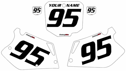 1995-1997 Honda CR125 Custom White Pre-Printed Background - Black Numbers by Factory Ride