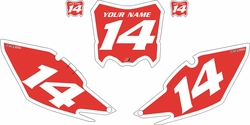 2014-2017 Honda CRF250-R Pre-Printed Backgrounds Red - White Bold Pinstripe by Factory Ride
