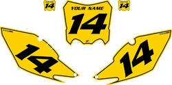 2014-2017 Honda CRF250-R Pre-Printed Backgrounds Yellow - Black Pinstripe by FactoryRide