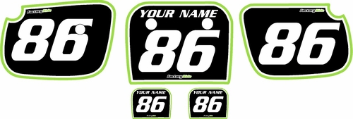 1986-2004 Kawasaki KX60 Custom Pre-Printed Background Black - Green Pro Pinstripe by Factory Ride