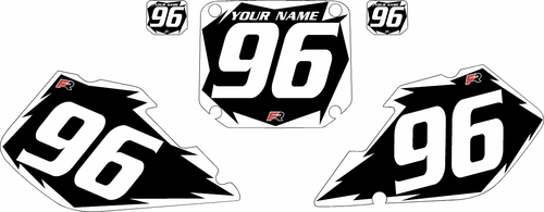 1996-1998 Suzuki RM125 Black Pre-Printed Background - White Shock Series by Factory Ride