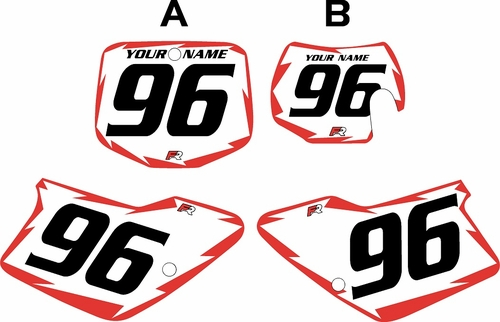 1996-2001 GAS GAS EC250 Custom Pre-Printed Background White - Red Shock Series by Factory Ride