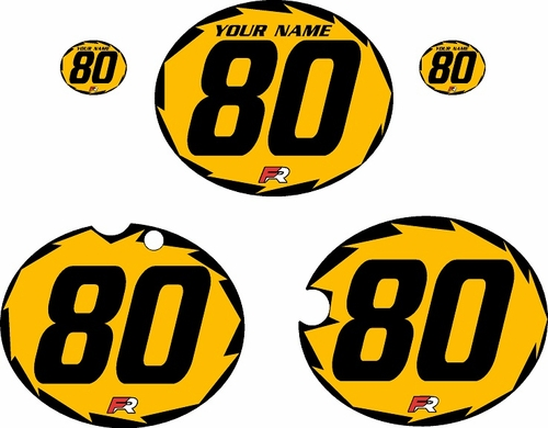 1980-1981 Yamaha YZ465 Custom Pre-Printed Yellow Background - Black Shock-Series by Factory Ride