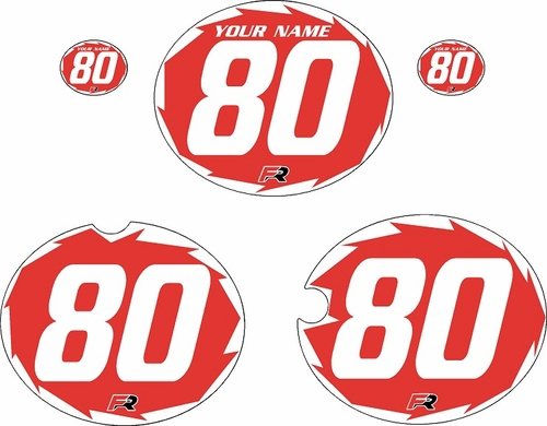 1980-1981 Yamaha YZ465 Custom Pre-Printed Red Background - White Shock-Series by Factory Ride