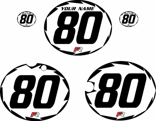 1980-1981 Yamaha YZ465 Custom Pre-Printed White Background - Black Shock-Series by Factory Ride