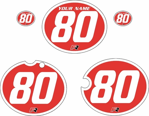 1980-1981 Yamaha YZ465 Custom Pre-Printed Red Background - White Bold Pinstripe by Factory Ride