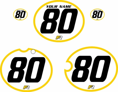 1980-1981 Yamaha YZ465 Custom Pre-Printed White Background - Yellow Bold Pinstripe by Factory Ride