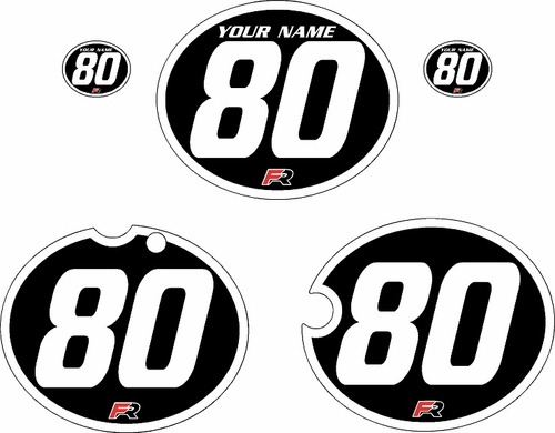 1980-1981 Yamaha YZ465 Custom Pre-Printed Black Background - White Bold Pinstripe by Factory Ride