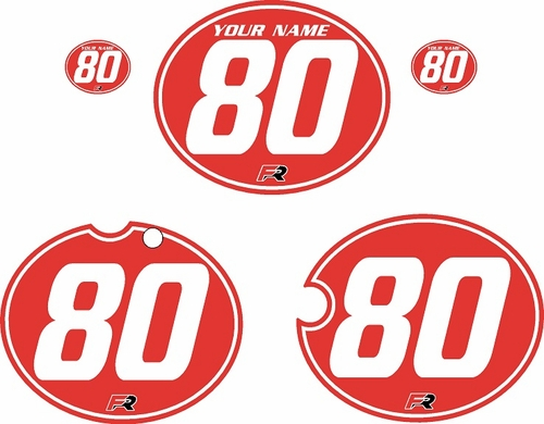 1980-1981 Yamaha YZ465 Custom Pre-Printed Red Background - White Pinstripe by Factory Ride