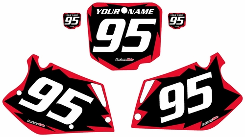 1995-1997 Honda CR125 Pre-Printed Backgrounds Black - Red Shock Series by FactoryRide