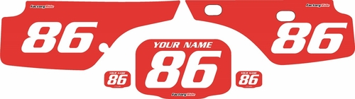 1986-1995 Honda XR250 Pre-Printed Backgrounds Red - White Numbers by FactoryRide