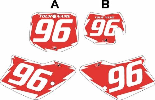 1996-2001 GAS GAS EC250 Custom Pre-Printed Background Red - White Shock Series by Factory Ride