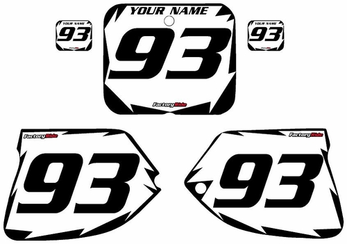 1993-1995-Suzuki-RM250 Custom White Pre-Printed Background - Black Shock Series by Factory Ride