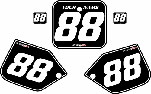 1987-1988 Honda CR500 Pre-Printed Backgrounds Black - White Pinstripe by FactoryRide