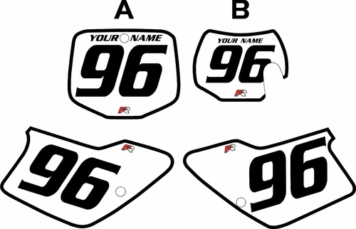 1998-1999 GAS GAS MC250 Custom Pre-Printed Background White - Black Bold Pinstripe by Factory Ride