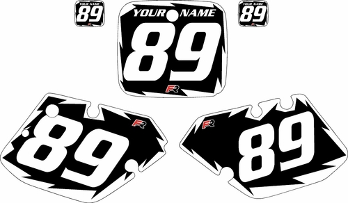 1989-1990 Yamaha YZ125 Custom Pre-Printed Black Background - White Shock Series by Factory Ride