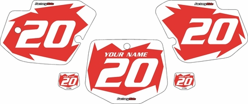 1996-2004 Kawasaki KX500 Custom Pre-Printed Red Background - White Shock Series by Factory Ride