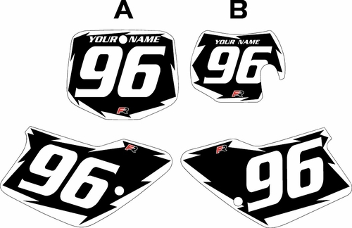 1996-2001 GAS GAS EC250 Custom Pre-Printed Background Black - White Shock Series by Factory Ride