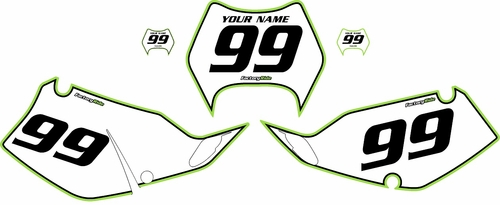 1997-2008 Kawasaki KLX300 Custom Pre-Printed Background White - Green Pro Pinstripe by Factory Ride