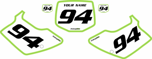 1994-1998 Kawasaki KX125 Pre-Printed Backgrounds White - Green Bold Pinstripe by FactoryRide