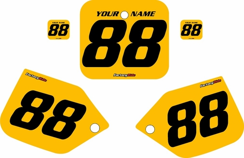 1987-1988 Honda CR500 Pre-Printed Backgrounds Yellow - Black Numbers by FactoryRide