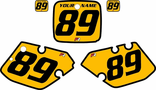 1989-1990 Yamaha YZ125 Custom Pre-Printed Yellow Background - Black Bold Pinstripe by Factory Ride