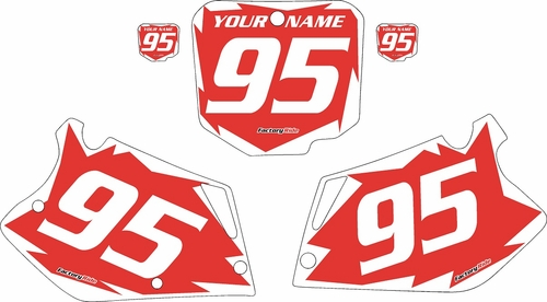 1995-1997 Honda CR125 Pre-Printed Backgrounds Red - White Shock Series by FactoryRide