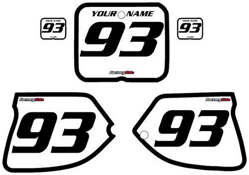 1993-1995-Suzuki-RM250 Custom White Pre-Printed Background - Black Bold Pinstripe by Factory Ride