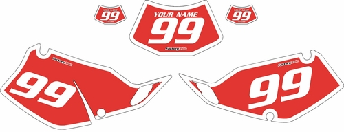 1994-1996 Kawasaki KLX250 Red Pre-Printed Backgrounds - White Bold Pinstripe by FactoryRide