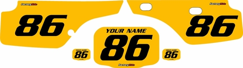 1986-1995 Honda XR250 Pre-Printed Backgrounds Yellow - Black Numbers by FactoryRide
