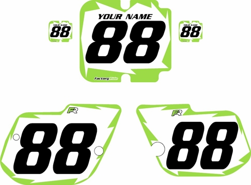 1986 Kawasaki KX125 Custom Pre-Printed Background White - Green Shock by Factory Ride