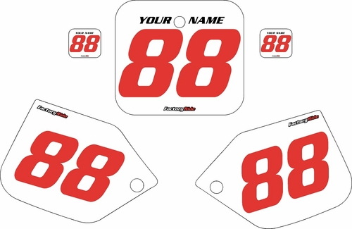 1987-1988 Honda CR500 Pre-Printed Backgrounds White - Red Numbers by FactoryRide