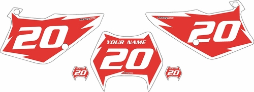1997-2005 Kawasaki KDX 220 Custom Pre-Printed Red Background - White Shock Series by Factory Ride