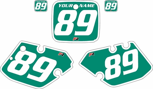 1989-1990 Yamaha YZ125 Custom Pre-Printed Green Background - White Bold Pinstripe by Factory Ride