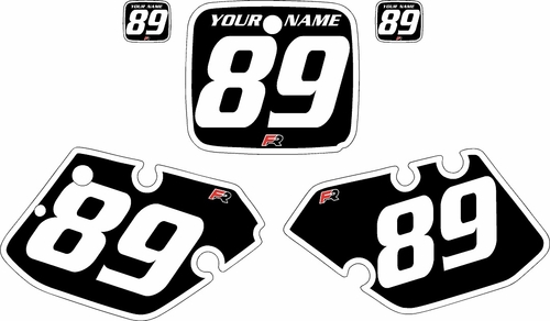 1989-1990 Yamaha YZ125 Custom Pre-Printed Black Background - White Bold Pinstripe by Factory Ride