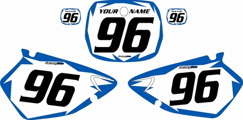 1996-1999 Yamaha YZ250 Custom Pre-Printed Background White - Blue Shock Series by Factory Ride